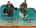 Hockey Collectibles:Others, 1948-49 Turk Broda and Bob Solinger CCM Advertising Broadsides Lot of 2....