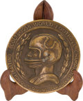 Football Collectibles:Others, 1958 Baltimore Colts World Championship Presentational Bronze Plaque....