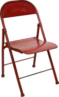 Football Collectibles:Others, 1960-62 Dallas Texans Cotton Bowl Stadium Chair....