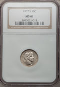 Barber Dimes: , 1907-S 10C MS61 NGC. NGC Census: (3/48). PCGS Population (5/61).Mintage: 3,178,470. Numismedia Wsl. Price for problem free...