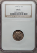 Barber Dimes: , 1899-O 10C MS61 NGC. NGC Census: (5/46). PCGS Population (0/46).Mintage: 2,650,000. Numismedia Wsl. Price for problem free...