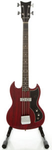 Musical Instruments:Electric Guitars, 1960's Kay K-1B Red Solid Body Electric Guitar...