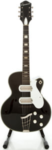 Musical Instruments:Electric Guitars, Late 1950's Silvertone Espenada Black Archtop Acoustic Guitar...