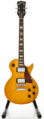 Circa 1970's Gibson Les Paul Deluxe Refinished Solid Body Electric Guitar, Serial #911598