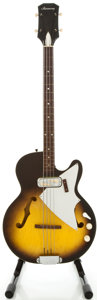 Musical Instruments:Bass Guitars, 1960's Harmony H22 Sunburst Electric Bass Guitar...