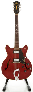 Musical Instruments:Electric Guitars, Circa 1967 Guild Starfire IV Cherry Semi-Hollow Body Electric Guitar, Serial #EL-1534....