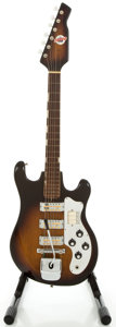 Musical Instruments:Electric Guitars, 1960's Teisco Del Rey Sunburst Solid Body Electric Guitar...