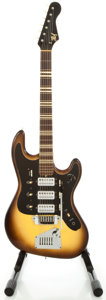 Musical Instruments:Electric Guitars, 1960's Hofner Sunburst Solid Body Electric Guitar...