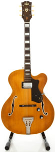 Musical Instruments:Electric Guitars, 1950's Guild Natural Archtop Electric Guitar...