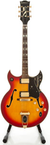 Musical Instruments:Electric Guitars, 1970's Guitorgan Cherryburst Semi-Hollow Body Electric Guitar...