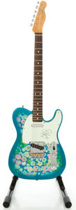 Musical Instruments:Electric Guitars, Fender Telecaster Blue Floral Solid Body Electric Guitar...