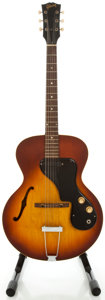 Musical Instruments:Electric Guitars, 1966 Gibson ES-120 T Sunburst Semi-Hollow Body Electric Guitar,Serial #405708....
