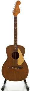 Musical Instruments:Acoustic Guitars, 1960's Fender Newporter Mahogany Acoustic Guitar, Serial #15479....