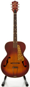 Musical Instruments:Acoustic Guitars, 1960's Silvertone Cherryburst Archtop Acoustic Guitar...