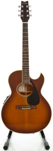 Musical Instruments:Acoustic Guitars, 1990's Washburn EA20TS Festival Series Sunburst Acoustic Electric Guitar, Serial #94050005....