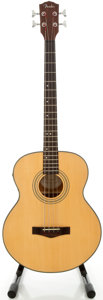 Musical Instruments:Bass Guitars, Fender BG-32 Natural Acoustic Electric Bass Guitar, Serial #99120885....