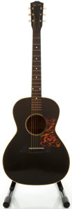 Musical Instruments:Acoustic Guitars, Circa 1936 Gibson L-00 Black Acoustic Guitar, Serial #7049B....