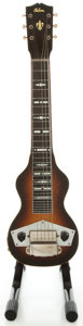 Musical Instruments:Lap Steel Guitars, Circa 1942 Gibson BR-6 Sunburst Lap Steel Guitar, Serial #F7316-87....