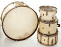 Musical Instruments:Drums & Percussion, WFL Vintage MOTS Drum Set.... (Total: 4 Items)
