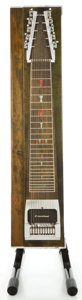 Musical Instruments:Lap Steel Guitars, MSA Super Sustain II Green Pedal Steel Guitar, Serial #1C5745.... (Total: 11 Items)