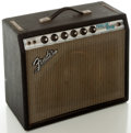 Musical Instruments:Amplifiers, PA, & Effects, 1970's Fender Princeton Reverb Silverface Guitar Amplifier, Serial #A26387....