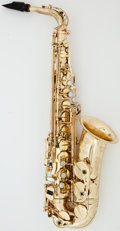 Musical Instruments:Horns & Wind Instruments, Circa 1992 Selmer Super Action 80 Series II Brass Alto Saxophone, Serial #484091....
