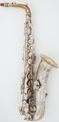 Musical Instruments:Horns & Wind Instruments, Circa 1918 Conn C Melody Silver Alto Saxophone, Serial #153165....