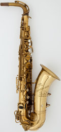 Musical Instruments:Horns & Wind Instruments, Circa 1927 Martin The Indiana Brass Alto Saxophone, Serial #68015....