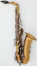 Musical Instruments:Horns & Wind Instruments, Circa 1960's Buescher 400 Model Brass Alto Saxophone, Serial #387203....