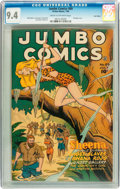 Golden Age (1938-1955):Miscellaneous, Jumbo Comics #89 Lost Valley pedigree (Fiction House, 1946) CGC NM 9.4 Cream to off-white pages....