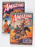 Pulps:Science Fiction, Amazing Stories - Edgar Rice Burroughs Group (Ziff-Davis, 1941)Condition: Average VG.... (Total: 2 )