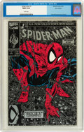 Modern Age (1980-Present):Superhero, Spider-Man #1 Silver Edition unbagged (Marvel, 1990) CGC MT 10.0White pages....