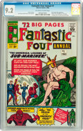 Silver Age (1956-1969):Superhero, Fantastic Four Annual #1 (Marvel, 1963) CGC NM- 9.2 Off-white to white pages....