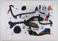 """Antiques:Posters & Prints, Joan Miro. Original Color Lithograph from Derriere leMiroir. Measures approximately 15"""" x 22"""" inches. Two foldsthr..."""