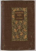 Books:Literature Pre-1900, J. M. Barrie. Sentimental Tommy. New York: Scribner's Sons,1896. First American edition. Octavo. 478 pages. Publish...