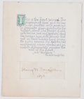 Autographs:Authors, Henry Wadsworth Longfellow Quotation Signed....