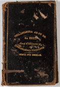 Books:Americana & American History, Philadelphia At It Is, and Citizens Advertising Directory.Philadelphia: P. J. Gray, 1833. First edition. Sixteenmo. 204...