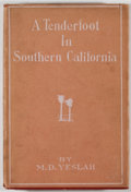 Books:Americana & American History, M. D. Yeslah [Maria Deane Halsey]. SIGNED/LIMITED. A Tenderfootin Southern California. New York: Little & Ives,...