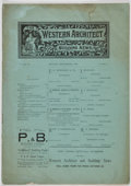 Books:Periodicals, Group of Nine Issues of The Western Architect and BuildingNews, including: Volume I, Number 11; Volume II, Number 1...(Total: 9 Items)
