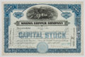 Antiques:Posters & Prints, Lot of Four 19th and 20th Century Silver and Copper Mining StockCertificates, including:...