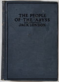 Books:World History, Jack London. The People of the Abyss. New York: Macmillan, 1906. Later impression. Octavo. 319 pages. Publisher's bi...