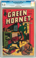 Golden Age (1938-1955):Adventure, Green Hornet Comics #28 (Harvey, 1945) CGC VF/NM 9.0 White pages....