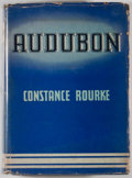 Books:Natural History Books & Prints, Constance Rourke. Audubon. New York: Harcourt, Brace, [1936]. Octavo. 342 pages. Publisher's binding and dust ja...