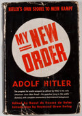 Books:Biography & Memoir, Adolf Hitler. My New Order. New York: Reynal &Hitchcock, [1941]. First edition. Octavo. Publisher's bindingand...