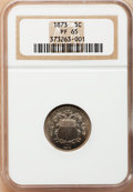 Proof Shield Nickels: , 1873 5C Closed 3 PR65 NGC. NGC Census: (99/39). PCGS Population(96/25). Mintage: 1,100. Numismedia Wsl. Price for problem ...