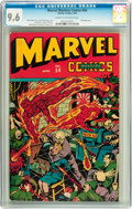 Golden Age (1938-1955):Superhero, Marvel Mystery Comics #54 (Timely, 1944) CGC NM+ 9.6 Cream to off-white pages....