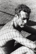 Photographs:20th Century, DENNIS HOPPER (American, 1936-2010). Paul Newman, 1967.Vintage gelatin silver. 23-1/2 x 16 inches (59.7 x 40.6 cm). ...