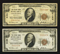 National Bank Notes:Kentucky, Louisville, KY - $10 1929 Ty. 1 The Citizens Union NB Ch. # 2164,Two Examples.. ... (Total: 2 notes)