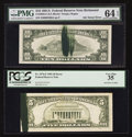 Error Notes:Ink Smears, Fr. 1976-F $5 1981 Federal Reserve Note. PCGS Very Fine 35.. Fr.2026-E $10 1981A Federal Reserve Note. PMG Choice Uncirculate...(Total: 2 notes)