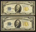 Small Size:World War II Emergency Notes, Fr. 2309 $10 1934A North Africa Silver Certificates. Two Examples. Fine-Very Fine.. ... (Total: 2 notes)